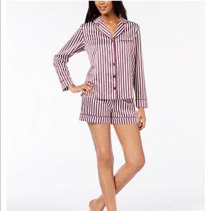 Satin Notch Collar Pajama Set